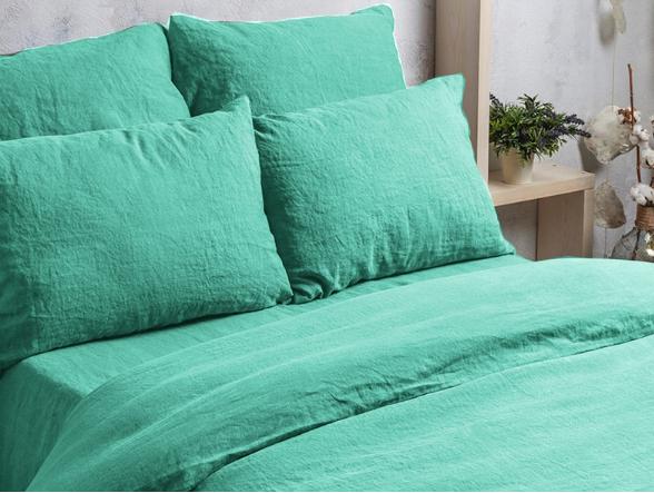 Ткань для постельного белья лен 100 бирюза фото 4>                   <span class=