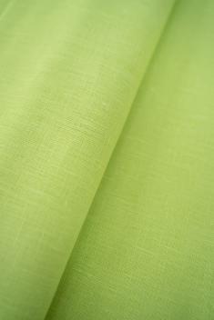 Ткань для постельного белья лен 100 лайм фото 1