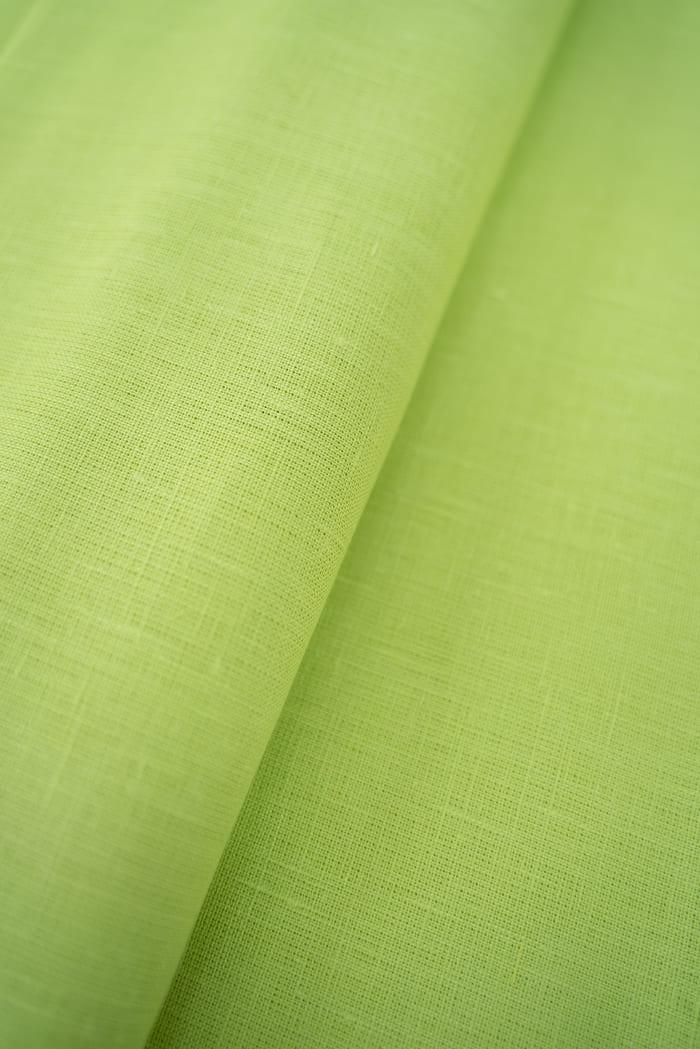 Ткань для постельного белья лен 100 лайм фото 1>                   <span class=