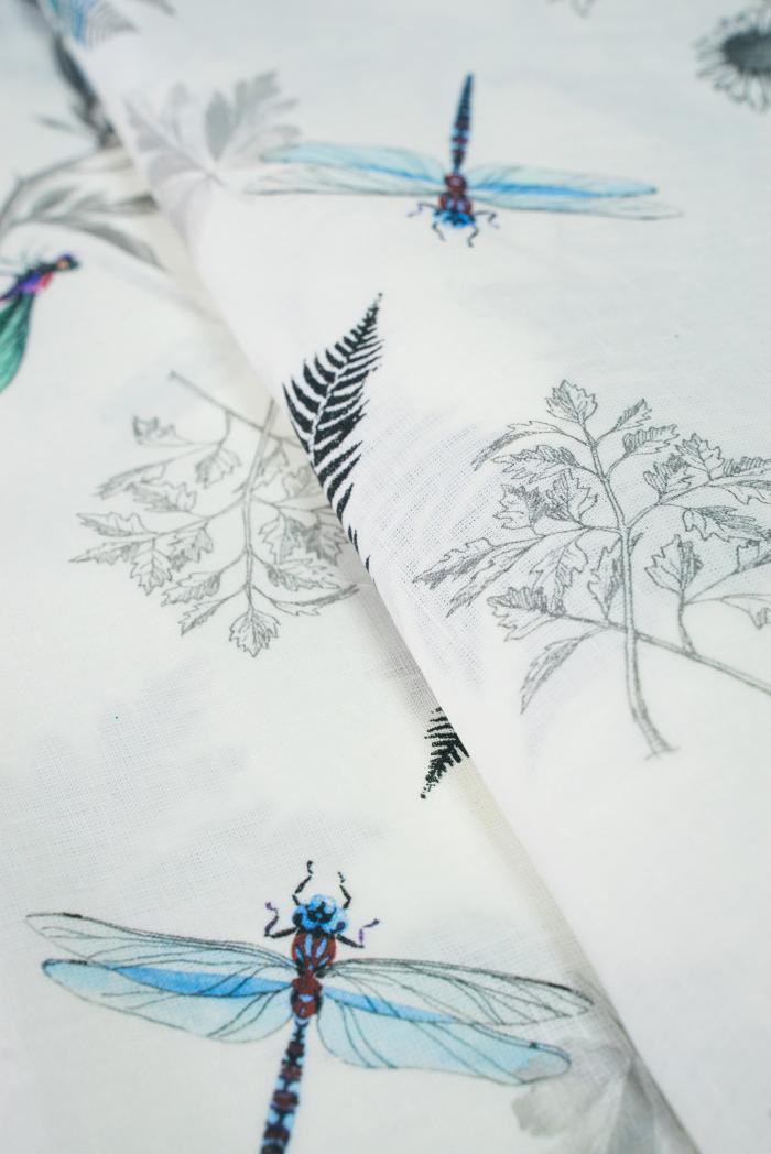 Ткань для постельного белья лен 100 папоротник фото 2>                   <span class=