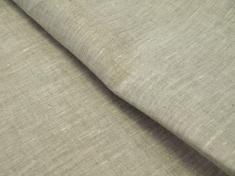 Ткань для постельного белья лен 100 серая гладь фото 1