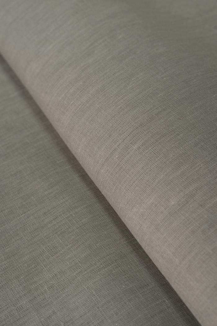 Ткань для постельного белья лен 100 серый камень фото 1>                   <span class=