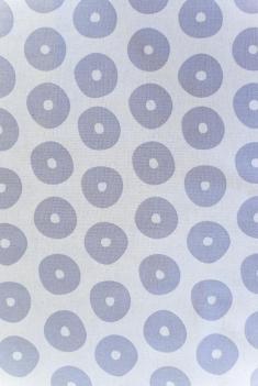 Ткань декоративная п лен круги серые фото 1