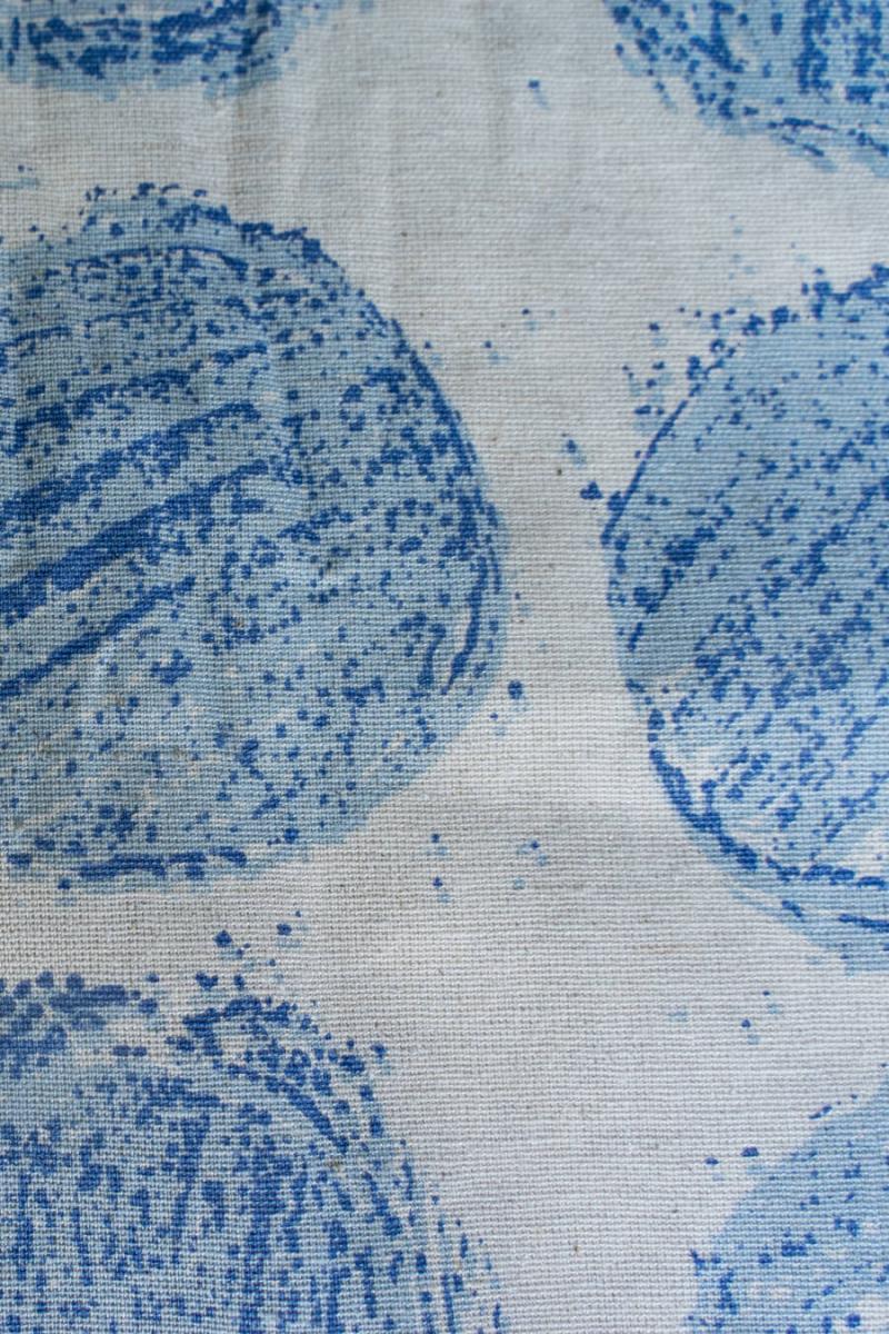 Ткань декоративная п лен круги синие на вареном фото 3>                   <span class=