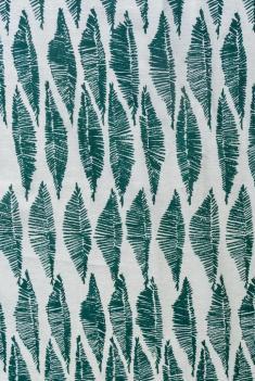 Ткань декоративная п лен листья зеленые фото 1