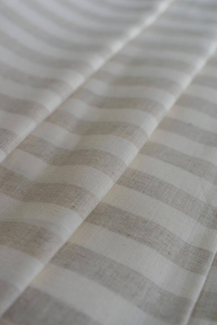 Ткань для постельного белья п лен полоска бежевая фото 1>                   <span class=