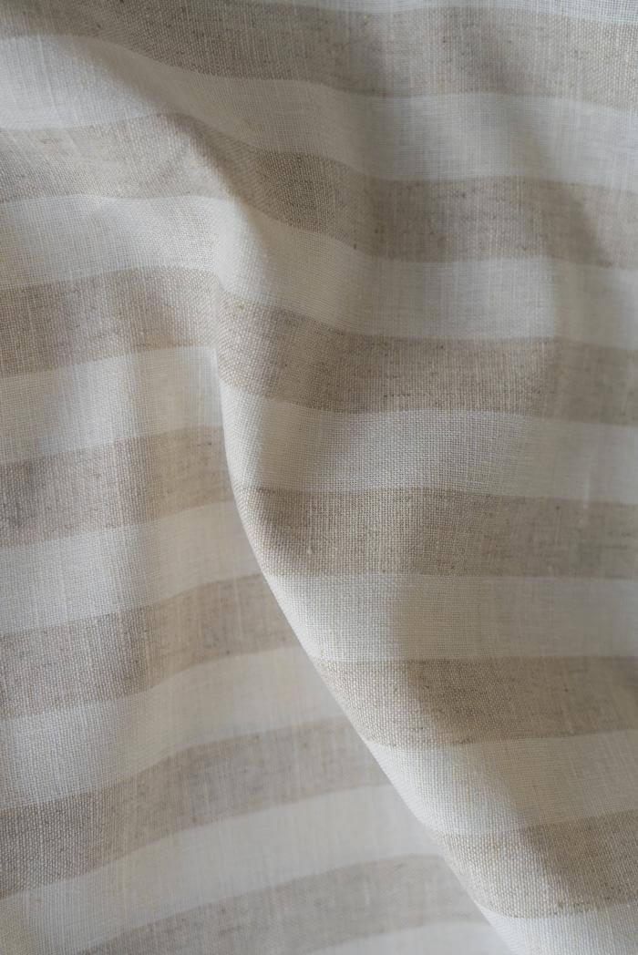 Ткань для постельного белья п лен полоска бежевая фото 3>                   <span class=