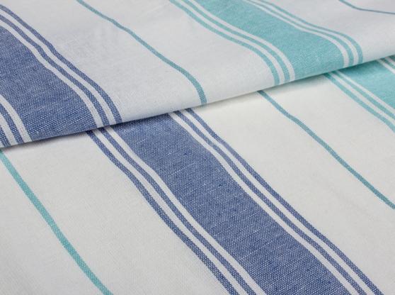 Ткань для постельного белья п лен полоска бирюза фото 1>                   <span class=