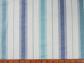 Ткань для постельного белья п лен полоска бирюза фото 2>                   <span class=