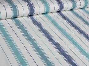 Ткань для постельного белья п лен полоска бирюза фото 3>                   <span class=