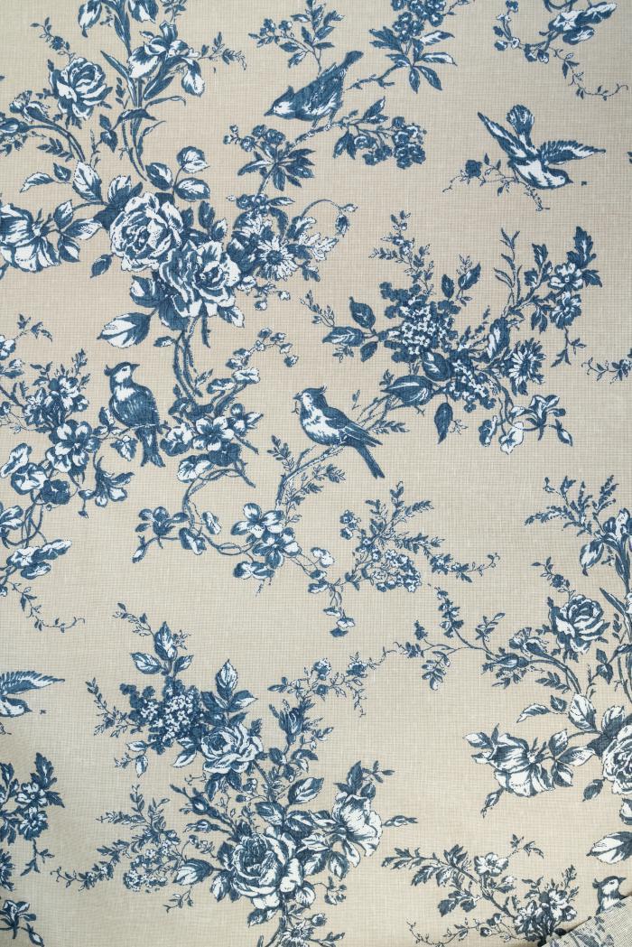 Ткань для постельного белья п лен райский сад фото 2>                   <span class=