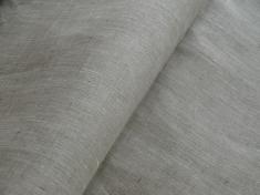 Ткань для постельного белья лен 100 серый жемчуг фото 1