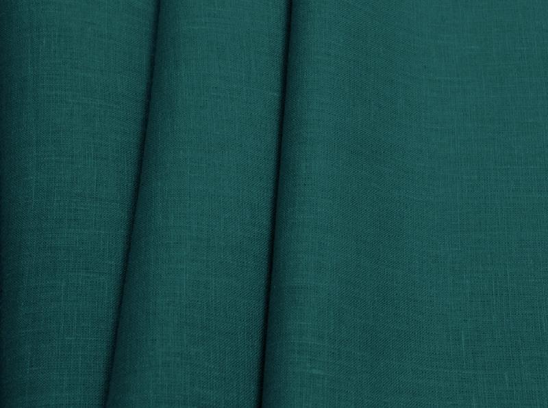 Ткань костюмная лен 100 морская волна фото 1>                   <span class=