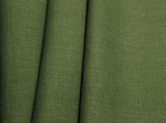 Ткань костюмная лен 100 зеленая осока фото 1
