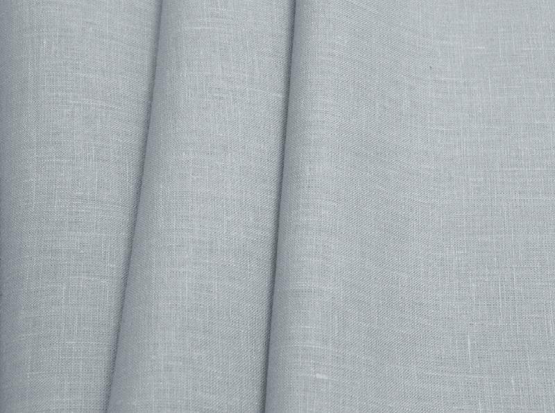Ткань костюмная лен 100 серый агат фото 1>                   <span class=