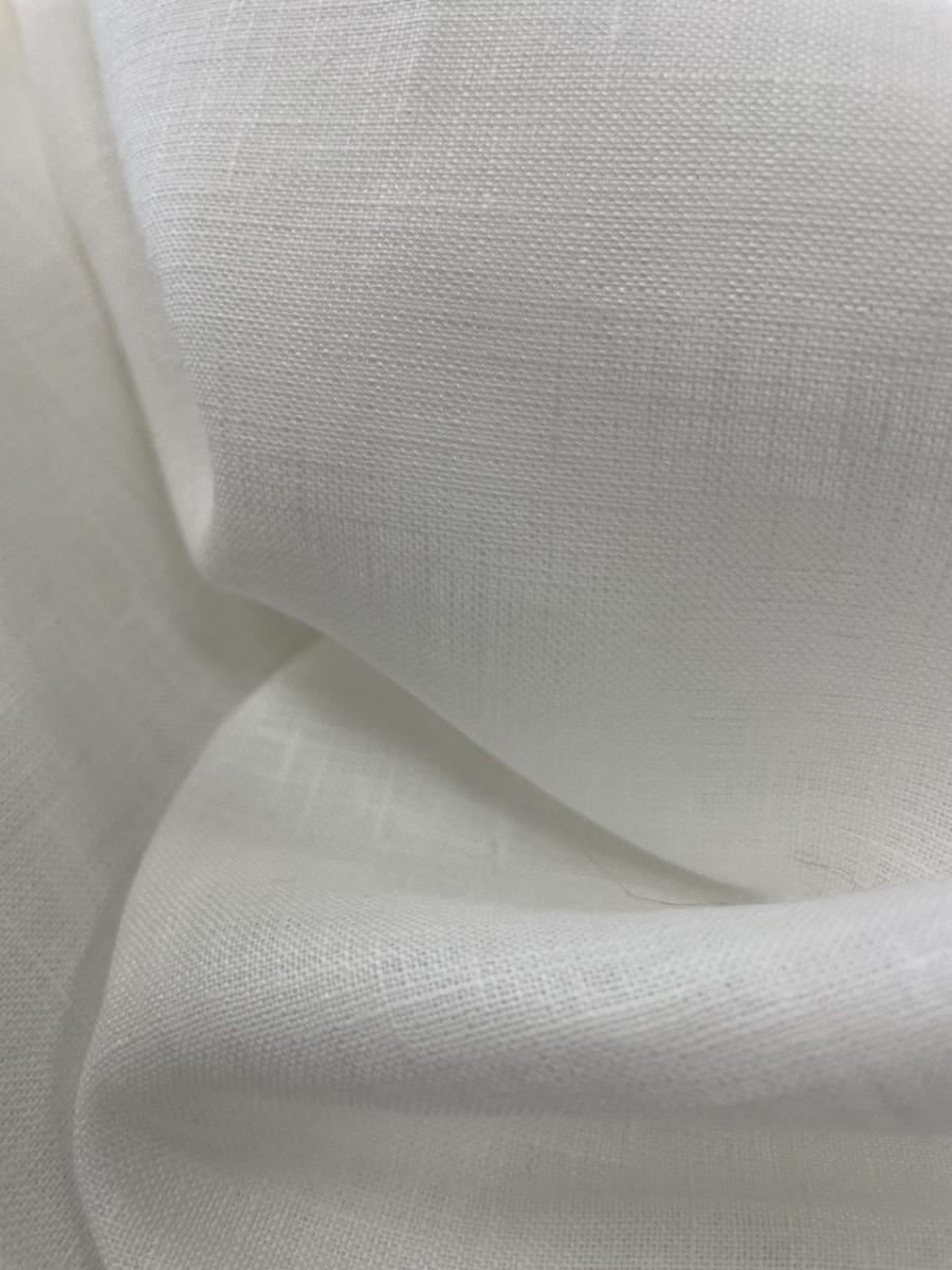 Ткань костюмная лен 100 белое облако фото 3>                   <span class=