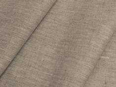 Ткань костюмная лен 100 бежевый меланж фото 1