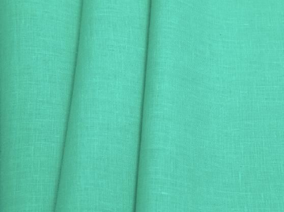 Ткань костюмная лен 100 бирюзовый цвет фото 1>                   <span class=