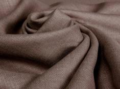 Ткань костюмная лен 100 елочка какао фото 1