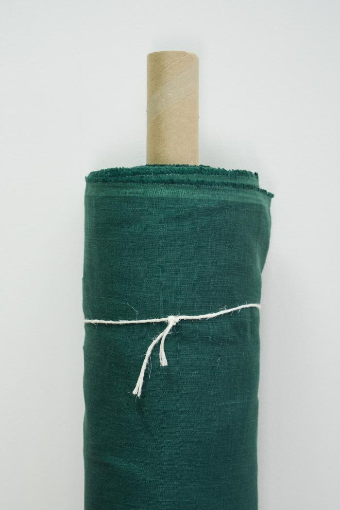 Ткань костюмная лен 100 хвойный лес фото 1>                   <span class=