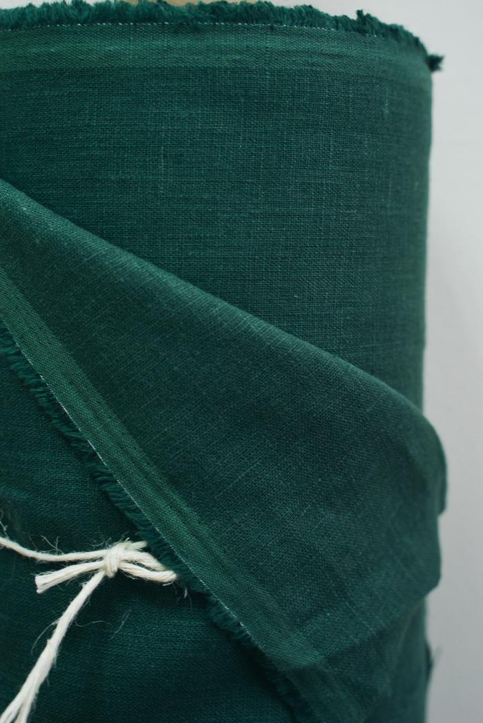 Ткань костюмная лен 100 хвойный лес фото 2>                   <span class=