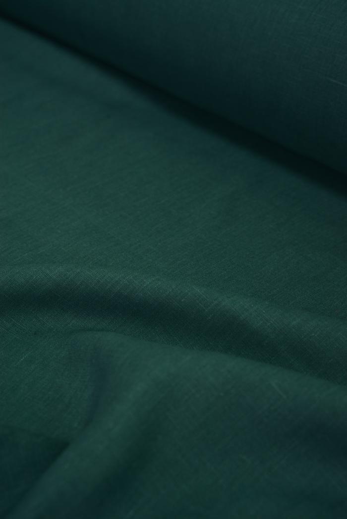 Ткань костюмная лен 100 хвойный лес фото 3>                   <span class=