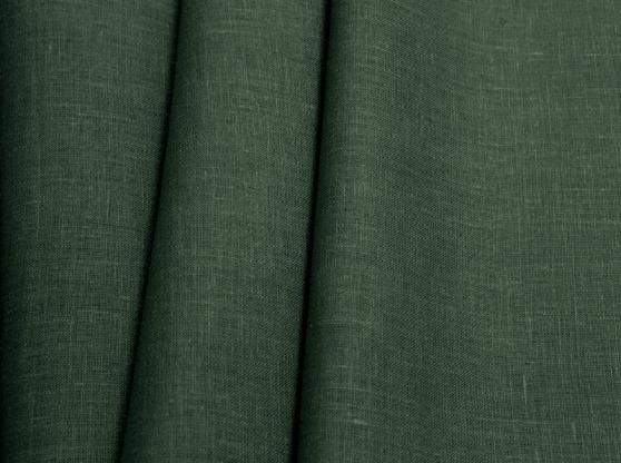 Ткань костюмная лен 100 изумруд фото 1>                   <span class=