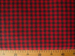 Ткань костюмная лен 100 клетка на красном фото 2>                   <span class=