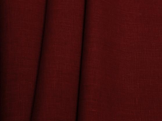 Ткань костюмная лен 100 марсала фото 1>                   <span class=