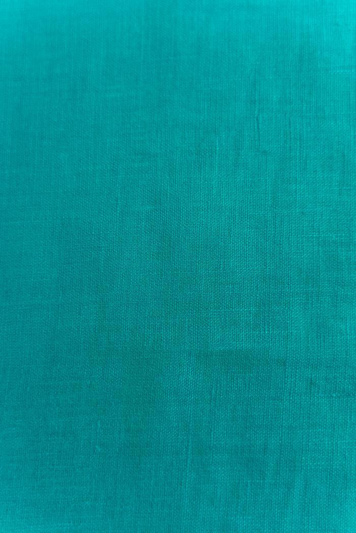 Ткань костюмная лен 100 морская лагуна фото 3>                   <span class=