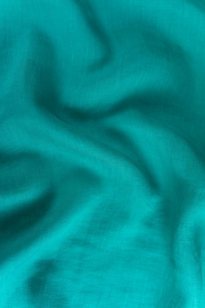 Ткань костюмная лен 100 морская лагуна фото 4>                   <span class=