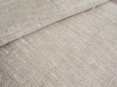 Ткань костюмная лен 100 серая спаржа фото 1