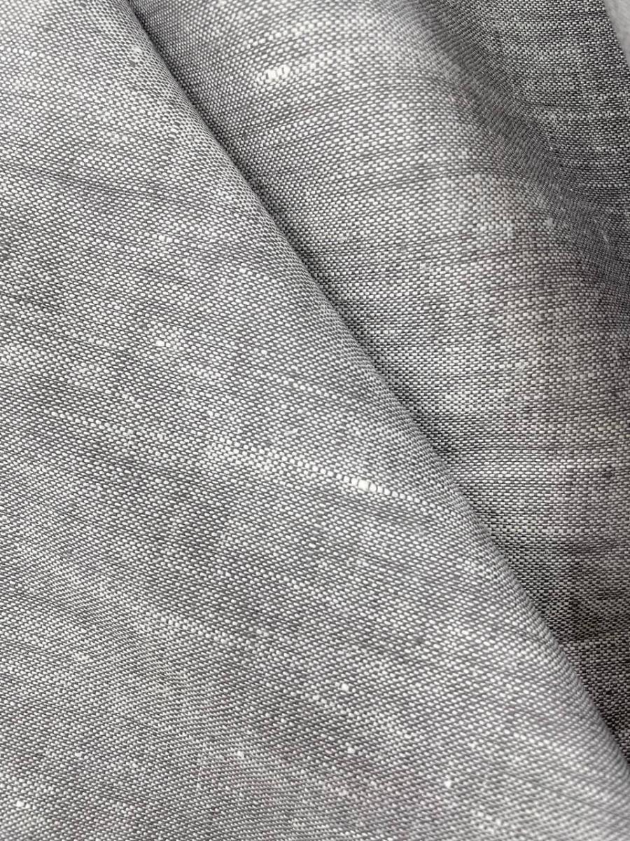 Ткань костюмная лен 100 серый меланж фото 1>                   <span class=