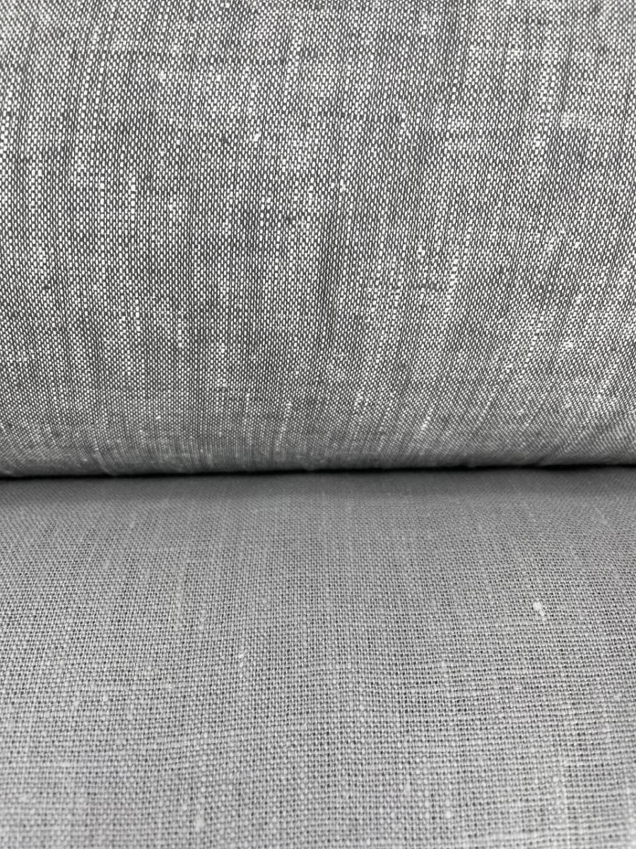 Ткань костюмная лен 100 серый меланж фото 2>                   <span class=