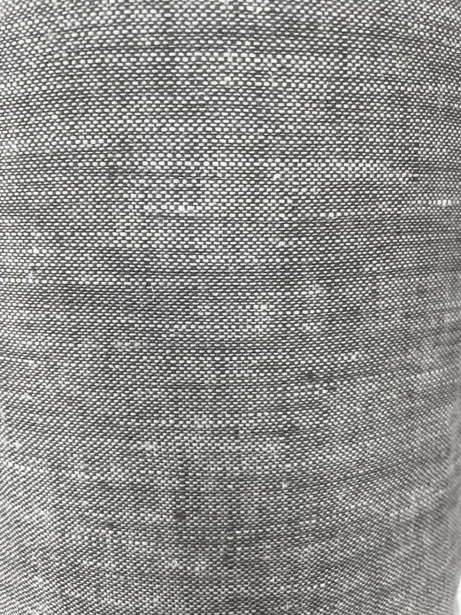 Ткань костюмная лен 100 серый меланж фото 3>                   <span class=