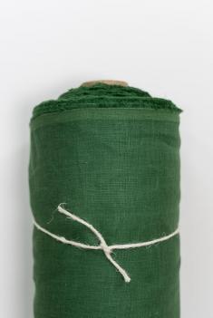 Ткань костюмная лен 100 травяной фото 1