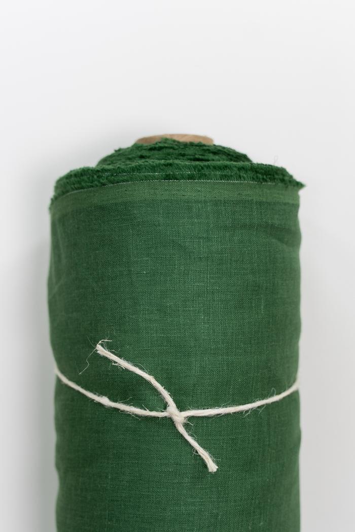 Ткань костюмная лен 100 травяной фото 1>                   <span class=