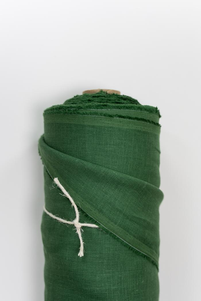 Ткань костюмная лен 100 травяной фото 2>                   <span class=