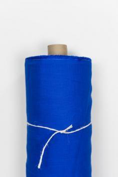 Ткань костюмная лен 100 васильковый цвет фото 1