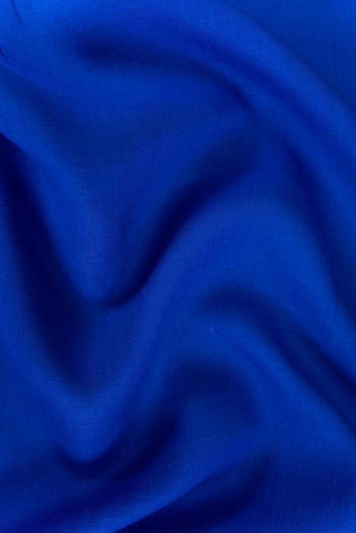 Ткань костюмная лен 100 васильковый цвет фото 3>                   <span class=