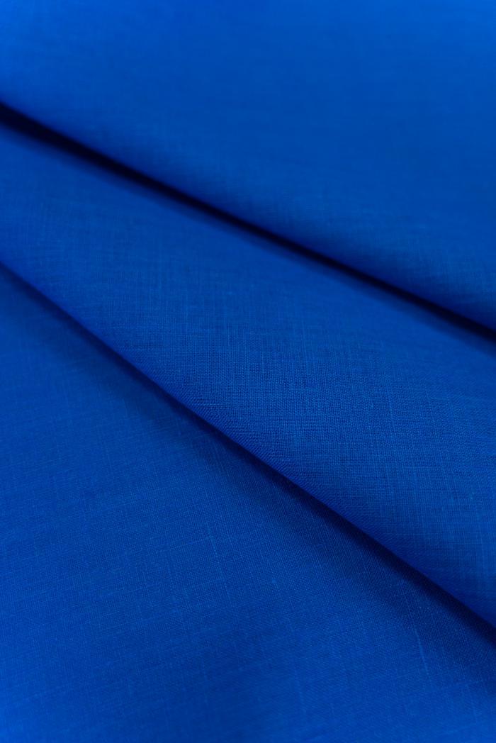 Ткань костюмная лен 100 васильковый цвет фото 4>                   <span class=