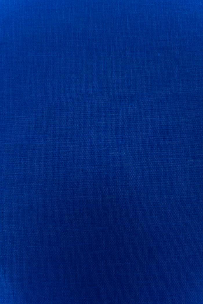 Ткань костюмная лен 100 васильковый цвет фото 5>                   <span class=