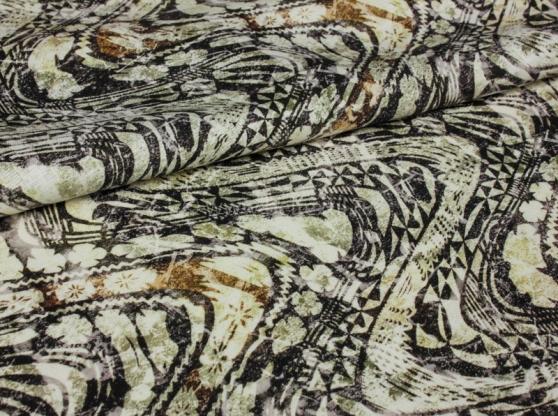 Ткань костюмная лен 100 виньетка фото 1>                   <span class=