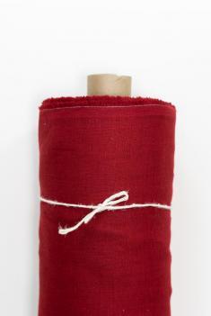Ткань костюмная лен 100 ягодный морс фото 1