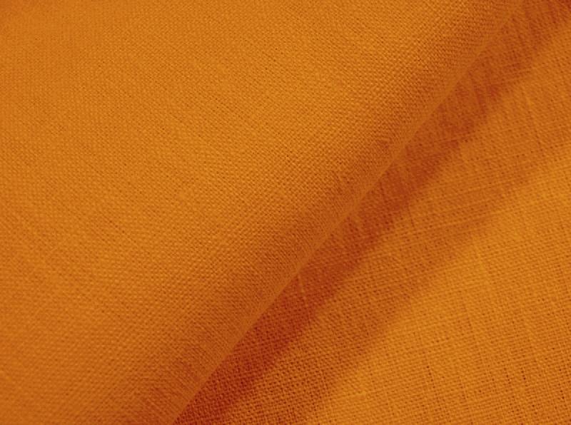 Ткань костюмная лен 100 яркая охра фото 1>                   <span class=