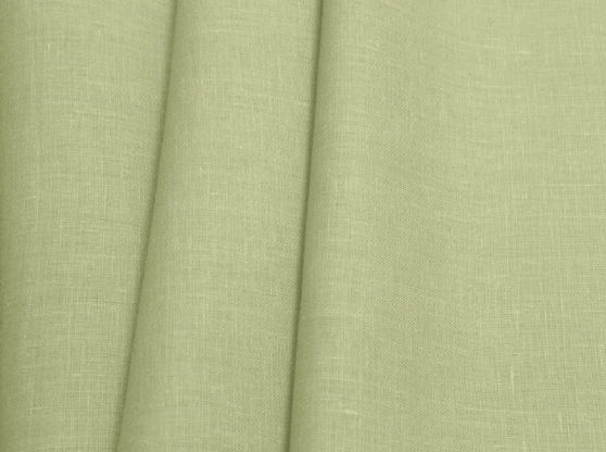 Ткань костюмная лен 100 зеленый чай фото 1>                   <span class=