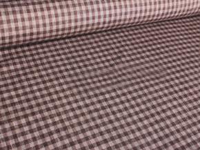 Ткань костюмная п лен клетка коричневая фото 3>                   <span class=