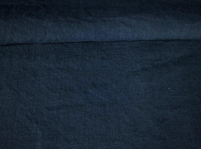 Ткань костюмная с эффектом мятости лен 100 грозовая туча фото 1>                   <span class=