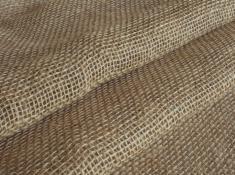 Ткань мешочная лен 100 джутовые нити фото 1