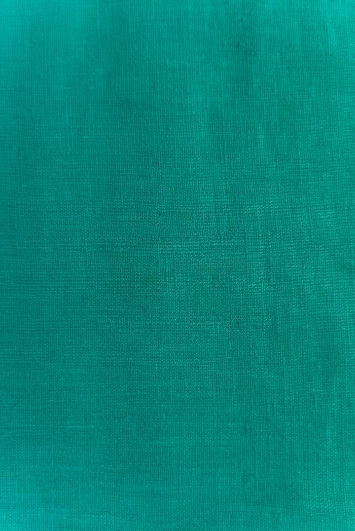 Ткань с эффектом мятости лен 100 циан фото 4>                   <span class=